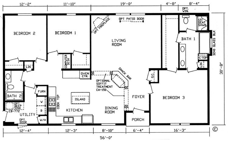 1500 square foot bungalow house plans escortsea for 1500 sq ft bungalow house plans